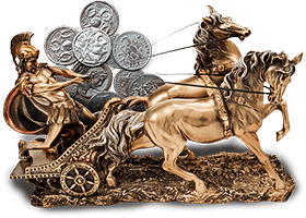 Roman Chariot and coins